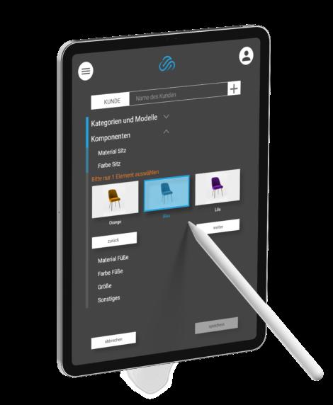 Produktkonfigurator Tabletscreen Richtige Auswahl